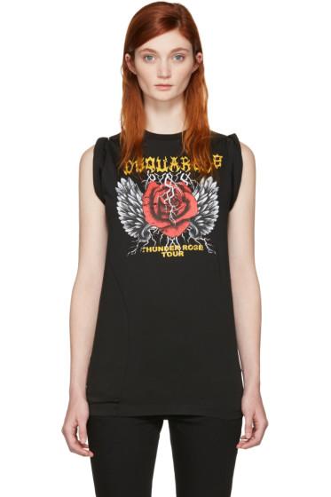 Dsquared2 - Black 'Thunder Rose Tour' T-Shirt