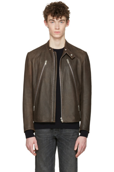 Maison Margiela - Brown Five-Zip Jacket