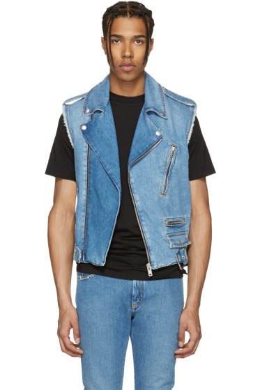 Maison Margiela - Indigo Denim Distressed Vest