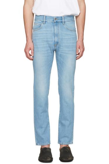 Maison Margiela - Indigo High-Waisted Washed Jeans