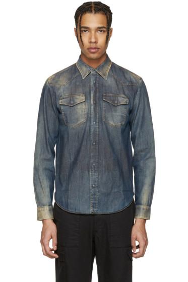 Maison Margiela - Indigo Faded Denim Shirt