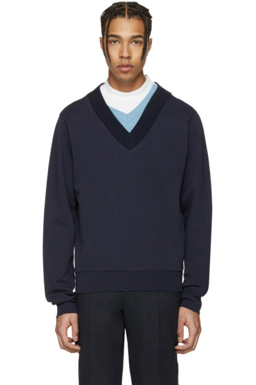 Maison Margiela - Navy Layered Collar Pullover