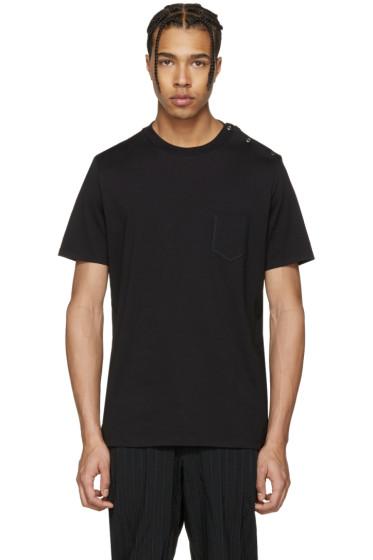 Maison Margiela - Black Shoulder Snap T-Shirt
