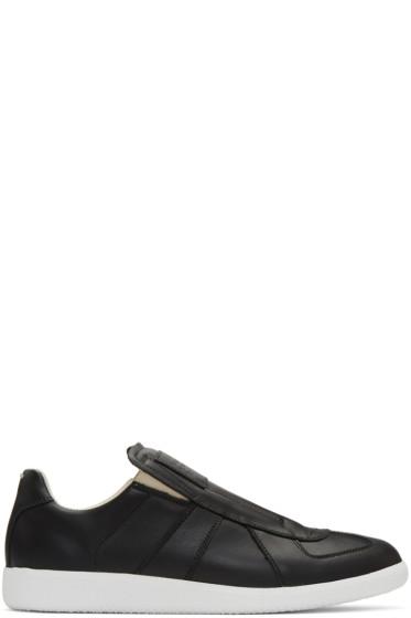 Maison Margiela - Black Laceless Replica Slip-On Sneakers