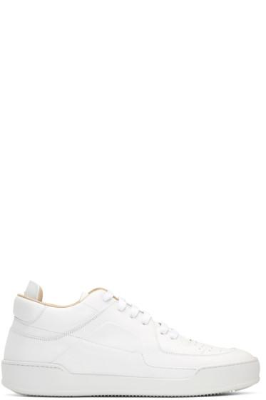 Maison Margiela - White Leather Sneakers