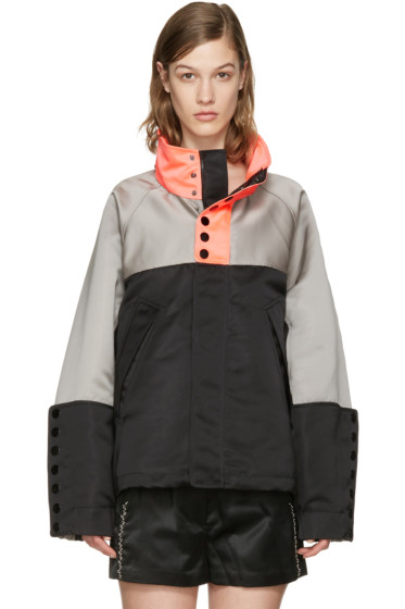 Alexander Wang - Tricolor Oversized Windbreaker Jacket