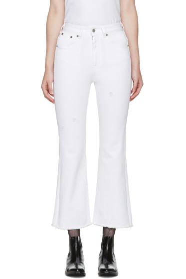 MM6 Maison Margiela - White Cropped Jeans