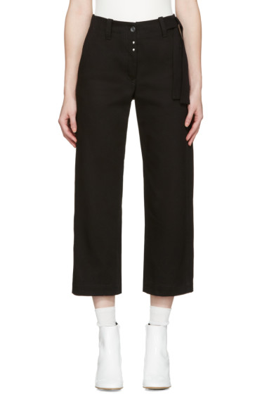 MM6 Maison Margiela - Black Workwear Drill Trousers