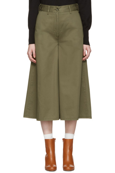 MM6 Maison Margiela - Green Wide-Leg Trosuers