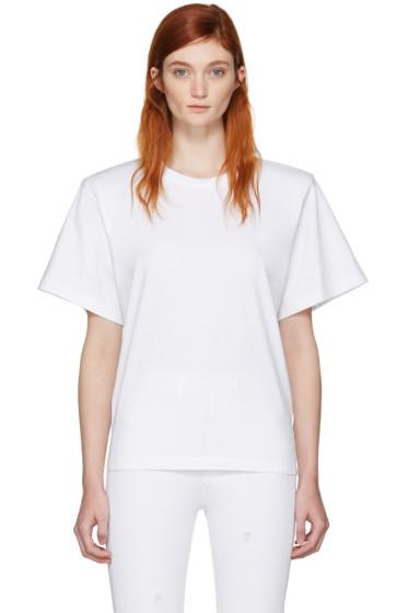 MM6 Maison Margiela - White Shoulder Pad T-Shirt