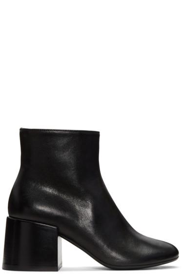 MM6 Maison Margiela - Black Cube Heel Boots