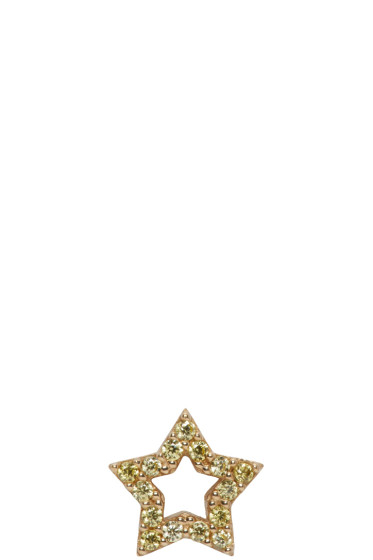 Marc Jacobs - Gold Strass Star Earring