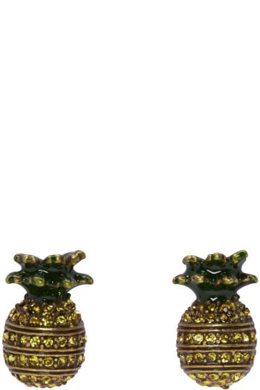 Marc Jacobs - Brass Pineapple Earrings