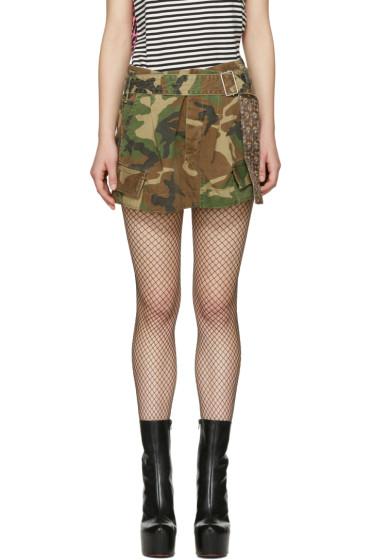 Marc Jacobs - Green Camo Cargo Miniskirt