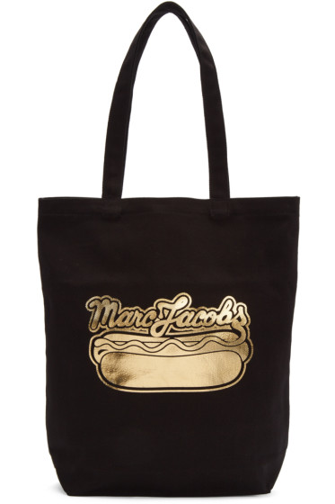 Marc Jacobs - Black Hot Dog Logo Tote