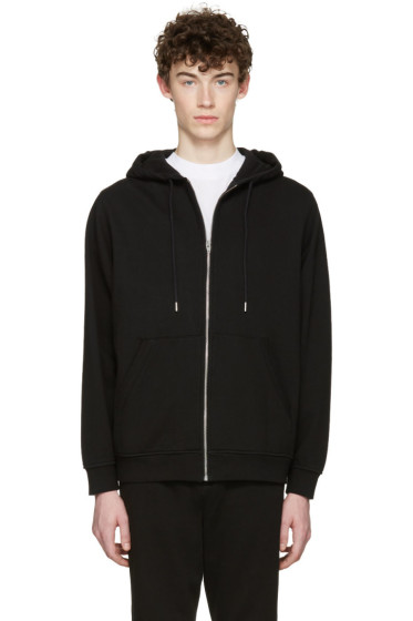 T by Alexander Wang - Black Zip-Up Hoodie