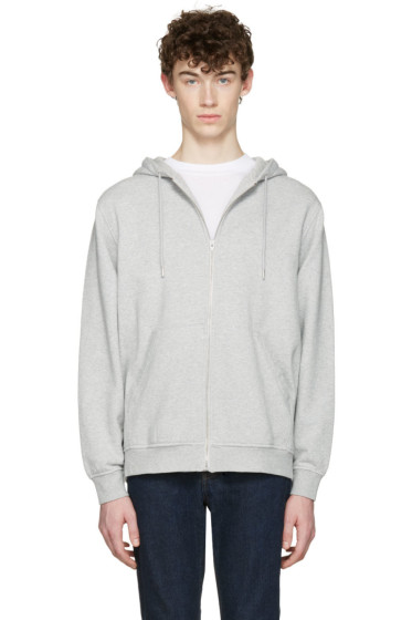 T by Alexander Wang - Grey Zip-Up Hoodie