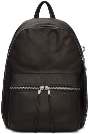 Rick Owens - Black Leather Backpack