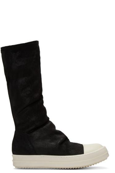 Rick Owens - Black Sock High-Top Sneakers