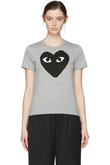Comme des Garçons Play - Grey Big Heart T-Shirt
