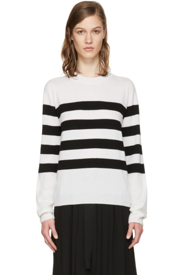 Jil Sander - ホワイト & ブラック マリン セーター