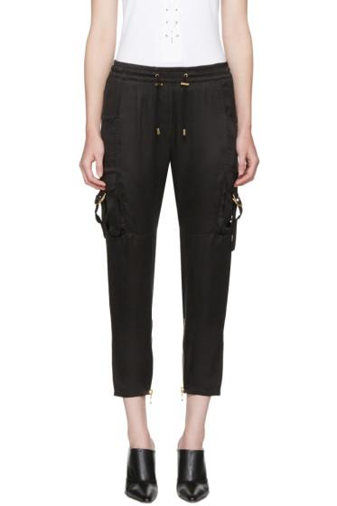 Balmain - Black Sateen Cargo Pants