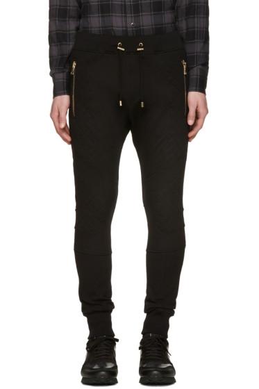 Balmain - Black Diamond Lacing Lounge Pants
