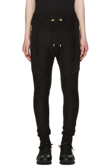 Balmain - Black Perforated Lounge Pants
