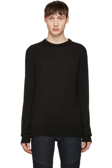 Balmain - Black Side Zip Sweater