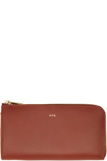 A.P.C. - Red Long Continental Wallet