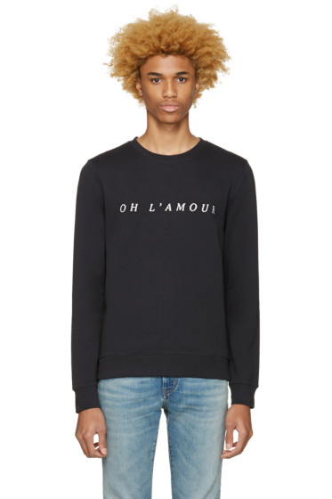 A.P.C. - Black 'Oh L'Amour' Pullover