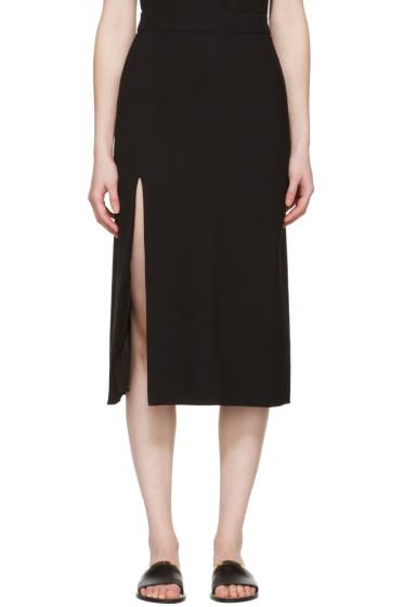 Lanvin - Black Wool Slit Skirt