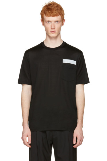 Lanvin - Black Reflective Band T-Shirt