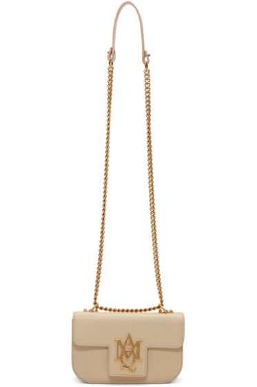 Alexander McQueen - Pink Small Insignia Chain Satchel
