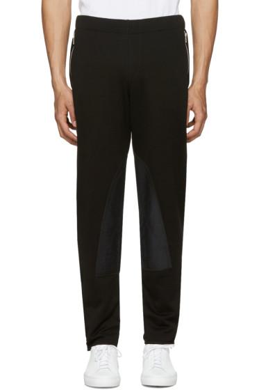 Alexander McQueen - Pantalon de survêtement à glissière noir