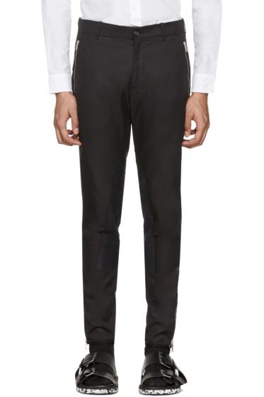 Alexander McQueen - Pantalon noir Zip & Button