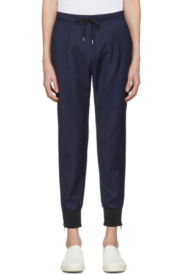 Paul Smith - Navy Check Zip Trousers