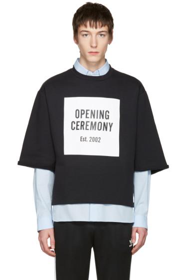 Opening Ceremony - Black Logo Cut-Off T-Shirt