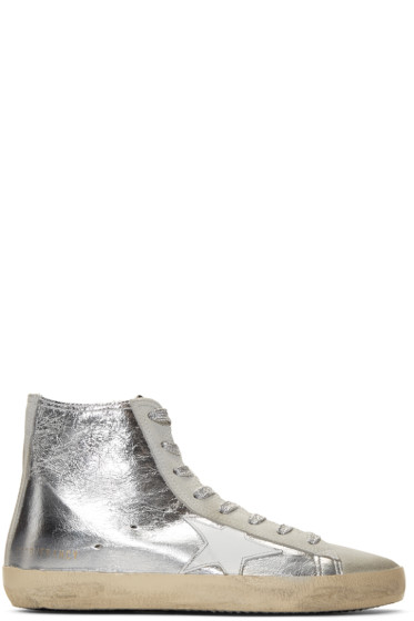 Golden Goose - Silver Metallic Francy High-Top Sneakers
