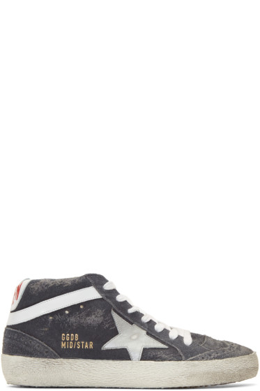 Golden Goose - Grey Suede Mid Star Sneakers