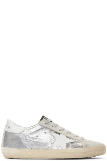 Golden Goose - Silver Metallic Superstar Sneakers