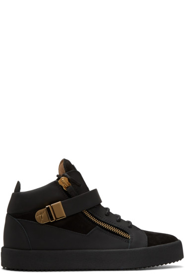 Giuseppe Zanotti - Black Suede London High-Top Sneakers