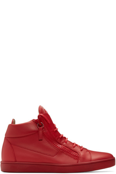 Giuseppe Zanotti - Red Brek High-Top Sneakers