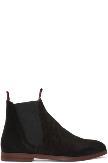 H by Hudson - Black Suede Tamper Boots