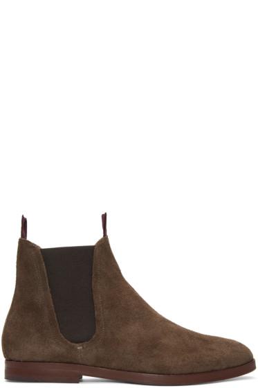 H by Hudson - ブラウン スエード タンパー ブーツ