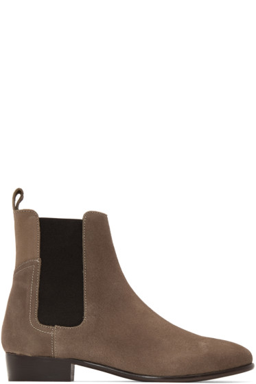 H by Hudson - Taupe Watts Chelsea Boots