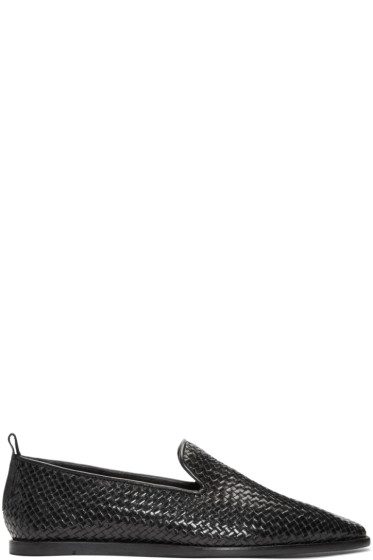 H by Hudson - Black Ipanema Weave Loafers