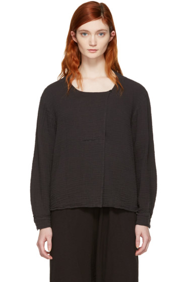 Raquel Allegra - Black Boxy Day Blouse
