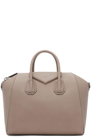 Givenchy - Taupe Medium Antigona Bag