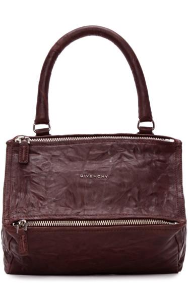 Givenchy - Burgundy Medium Pandora Bag
